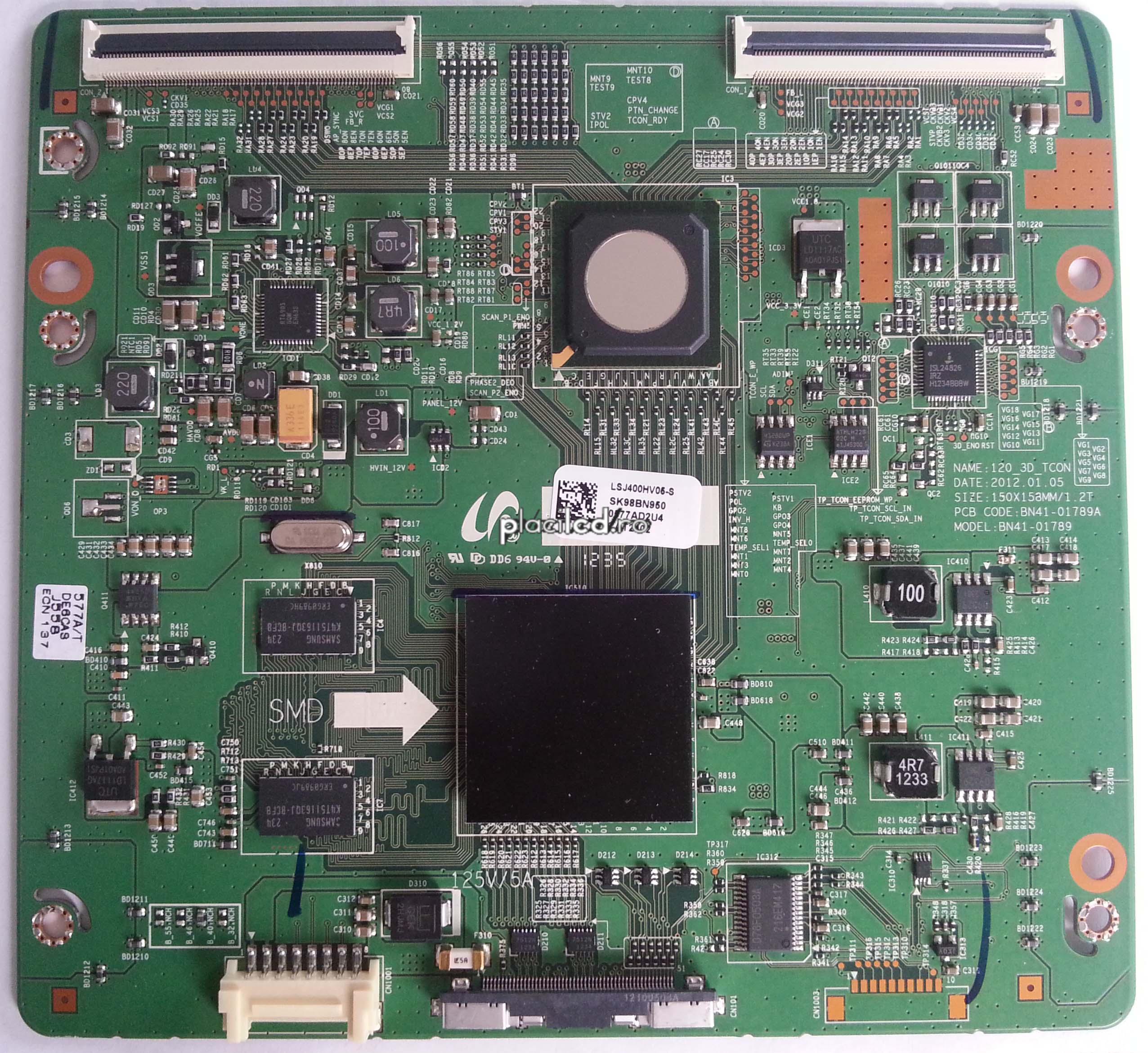 Placa LVDS 120_3D_TCON
