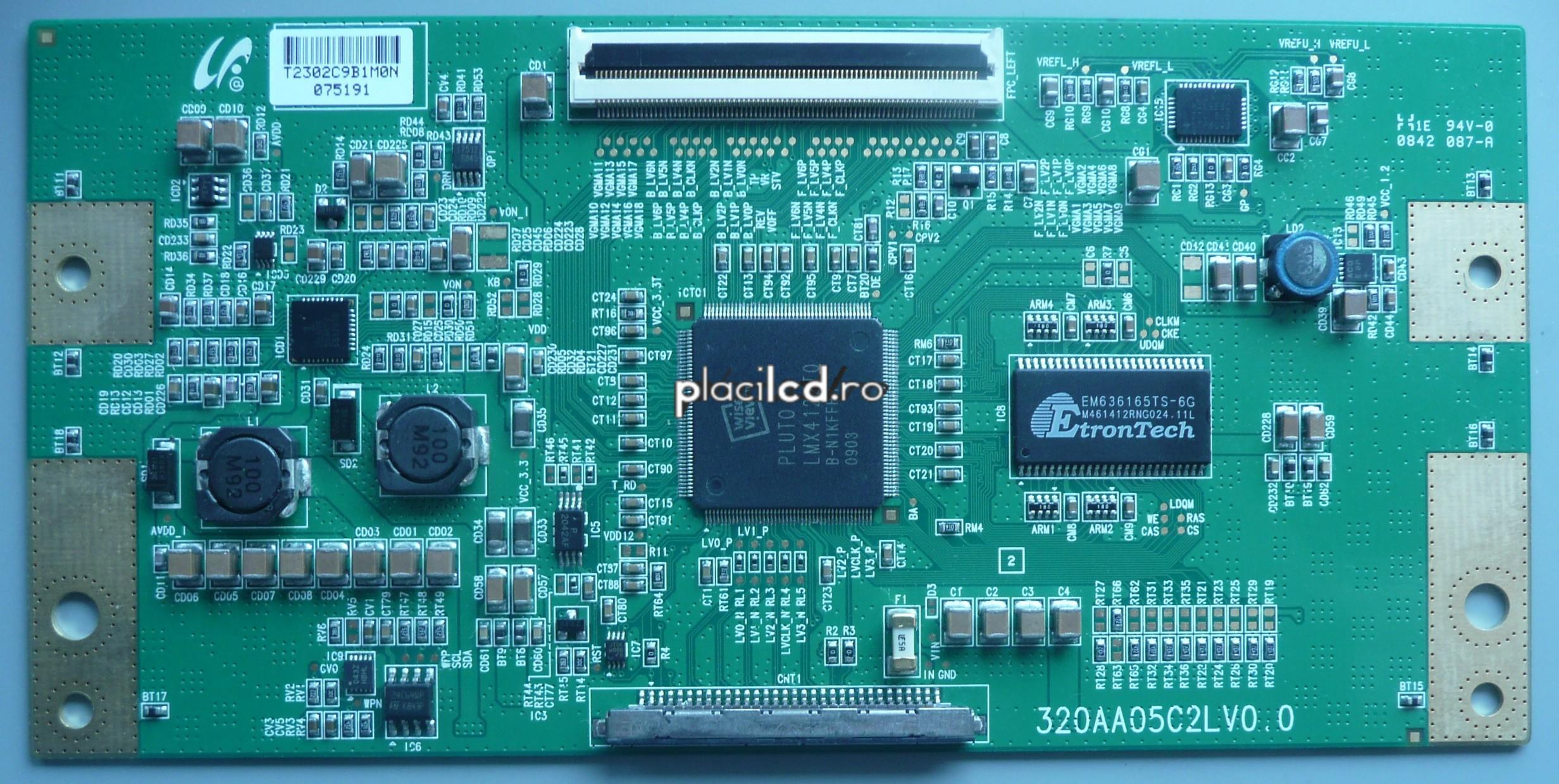 Placa LVDS 320AA05C2LV0.0