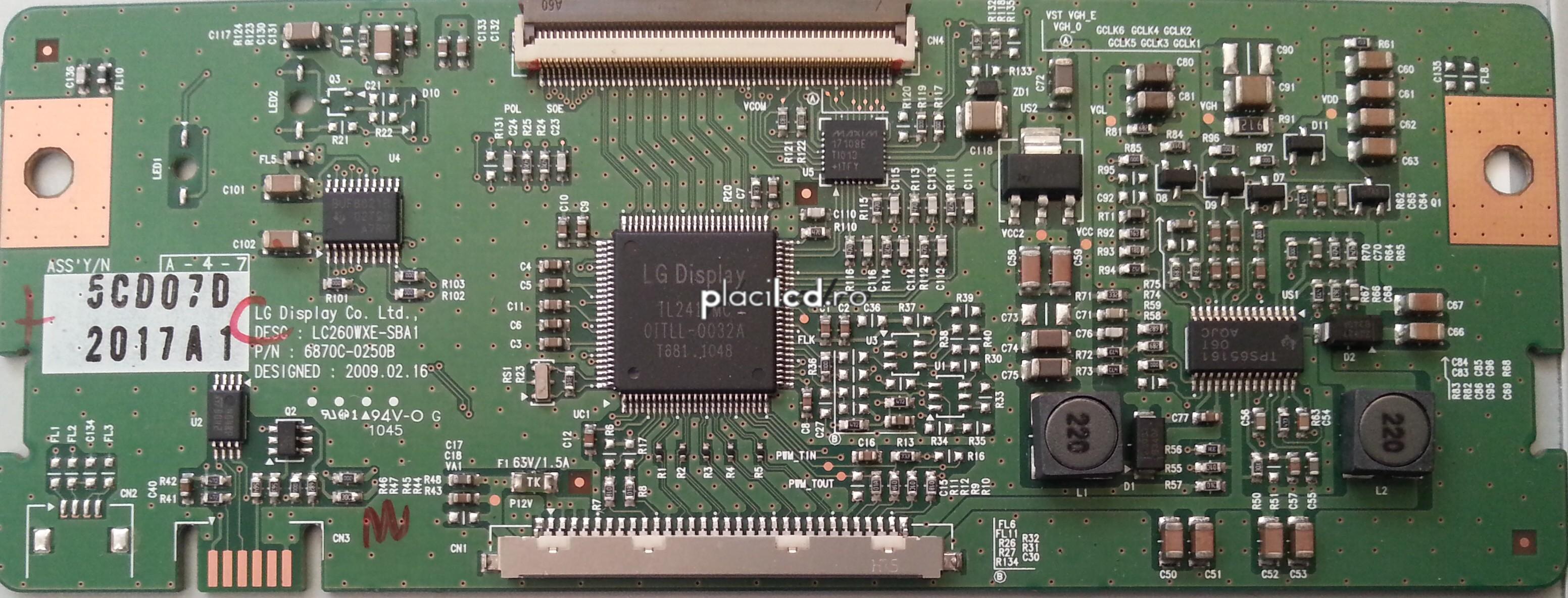 Placa LVDS 6870C-0250B