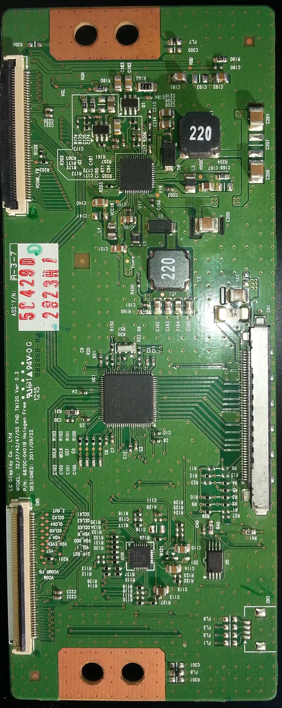 Placa LVDS 6870C-0401B