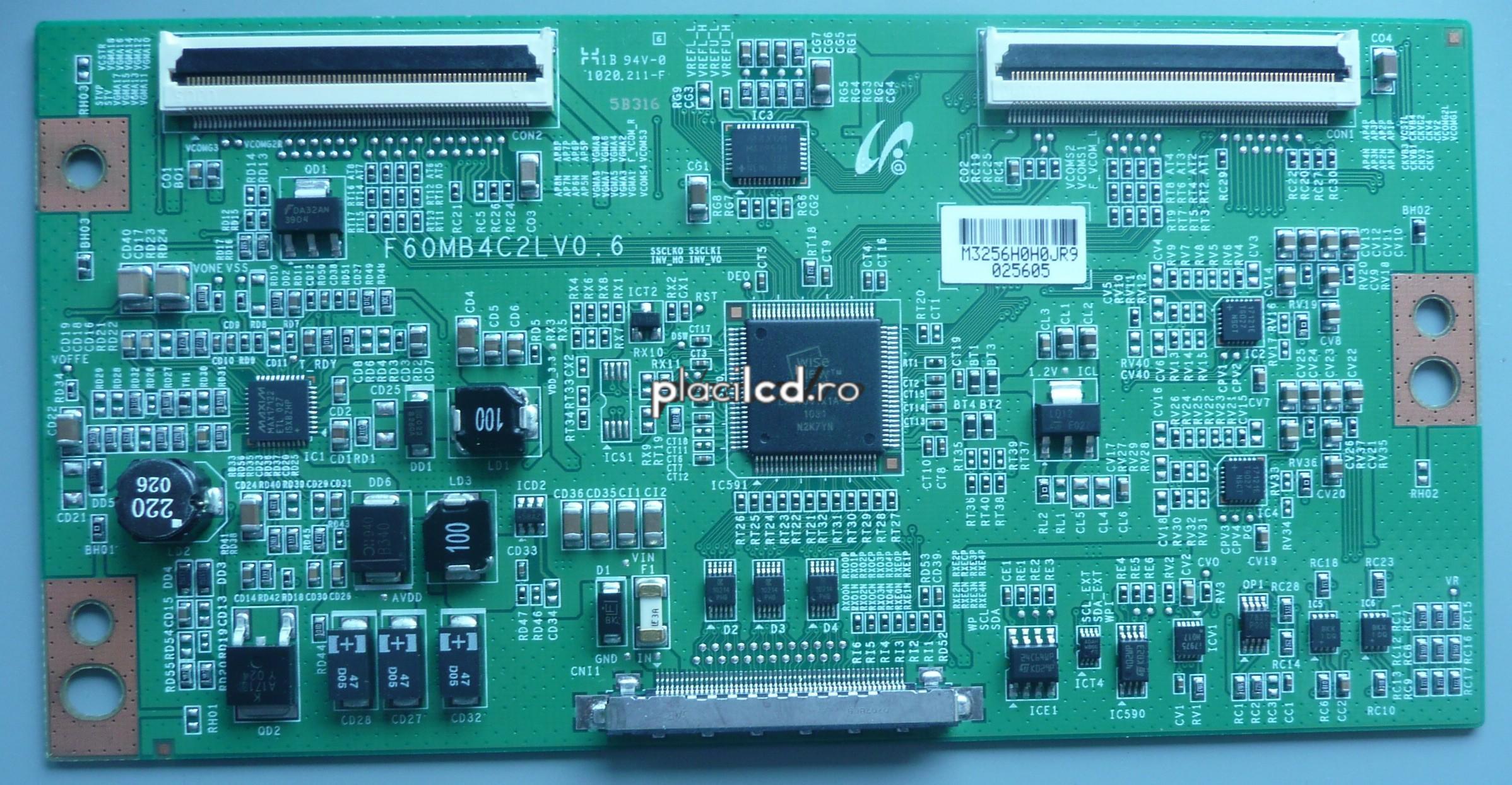 Placa LVDS F60MB4C2LV0.6