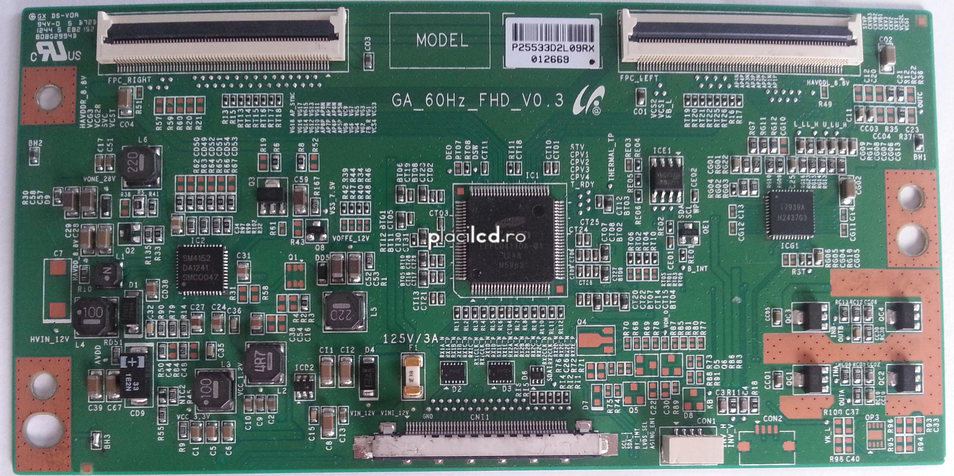 Placa LVDS GA_60Hz_FHD_V0.3