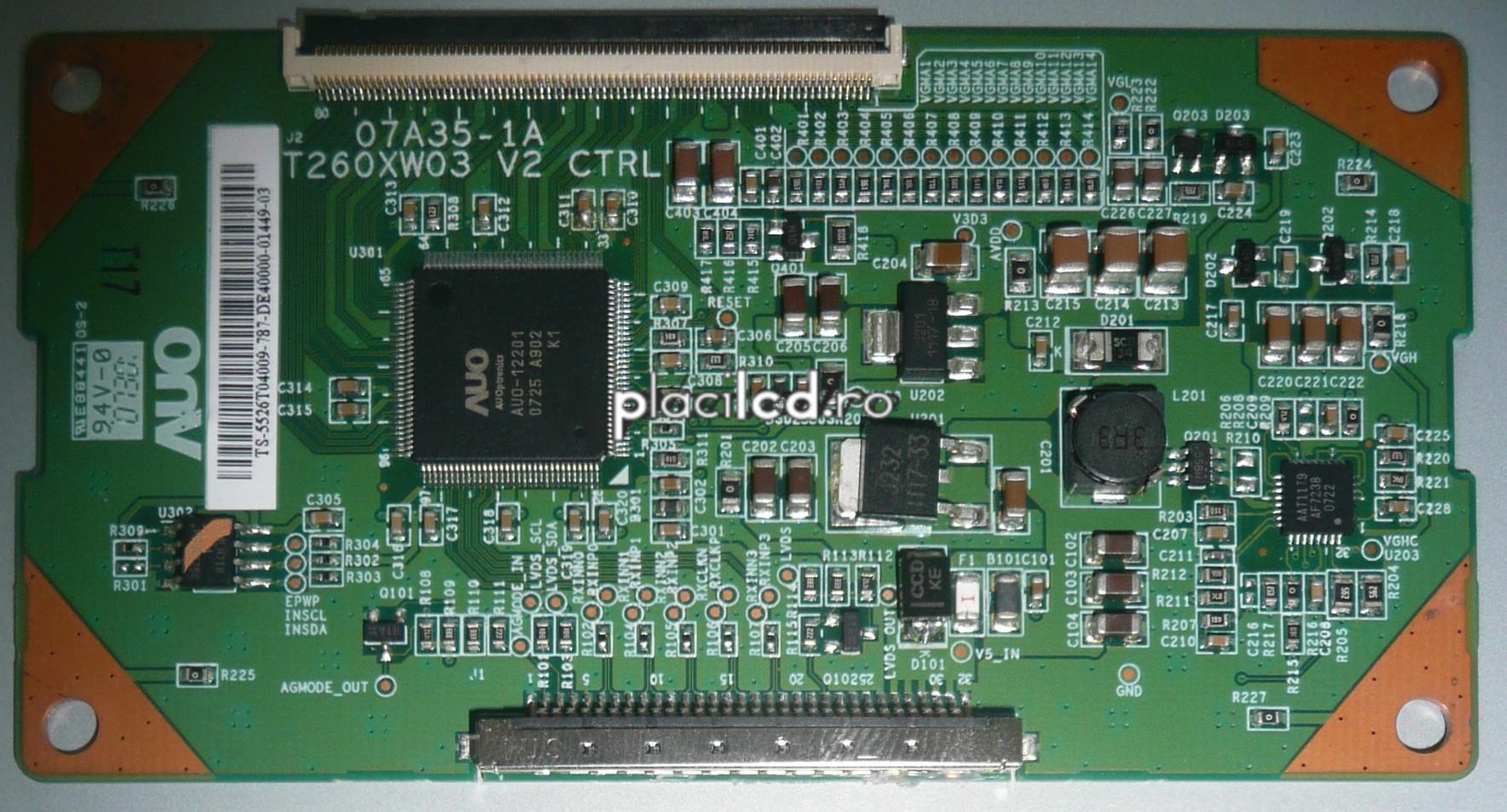 Placa LVDS T260XW03 V2 (07A35-1A)