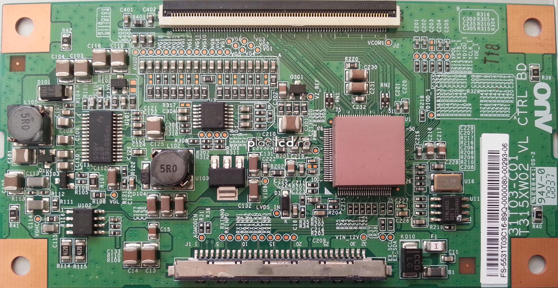 Placa LVDS T315XW02 VL (31T03-C01)