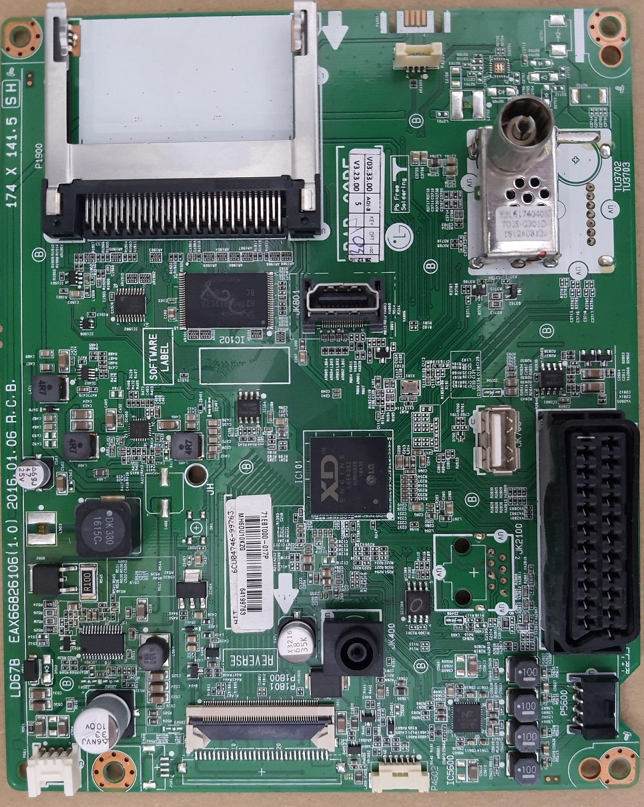 Placa de baza EAX66826106 (1.0), FHD