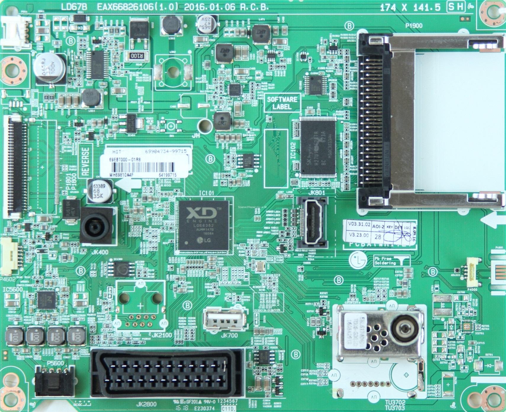 Placa de baza EAX66826106 (1.0)