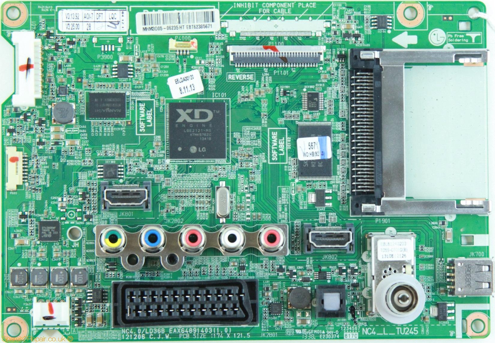 Placa de baza cod EAX64891403 (1.0) HDR