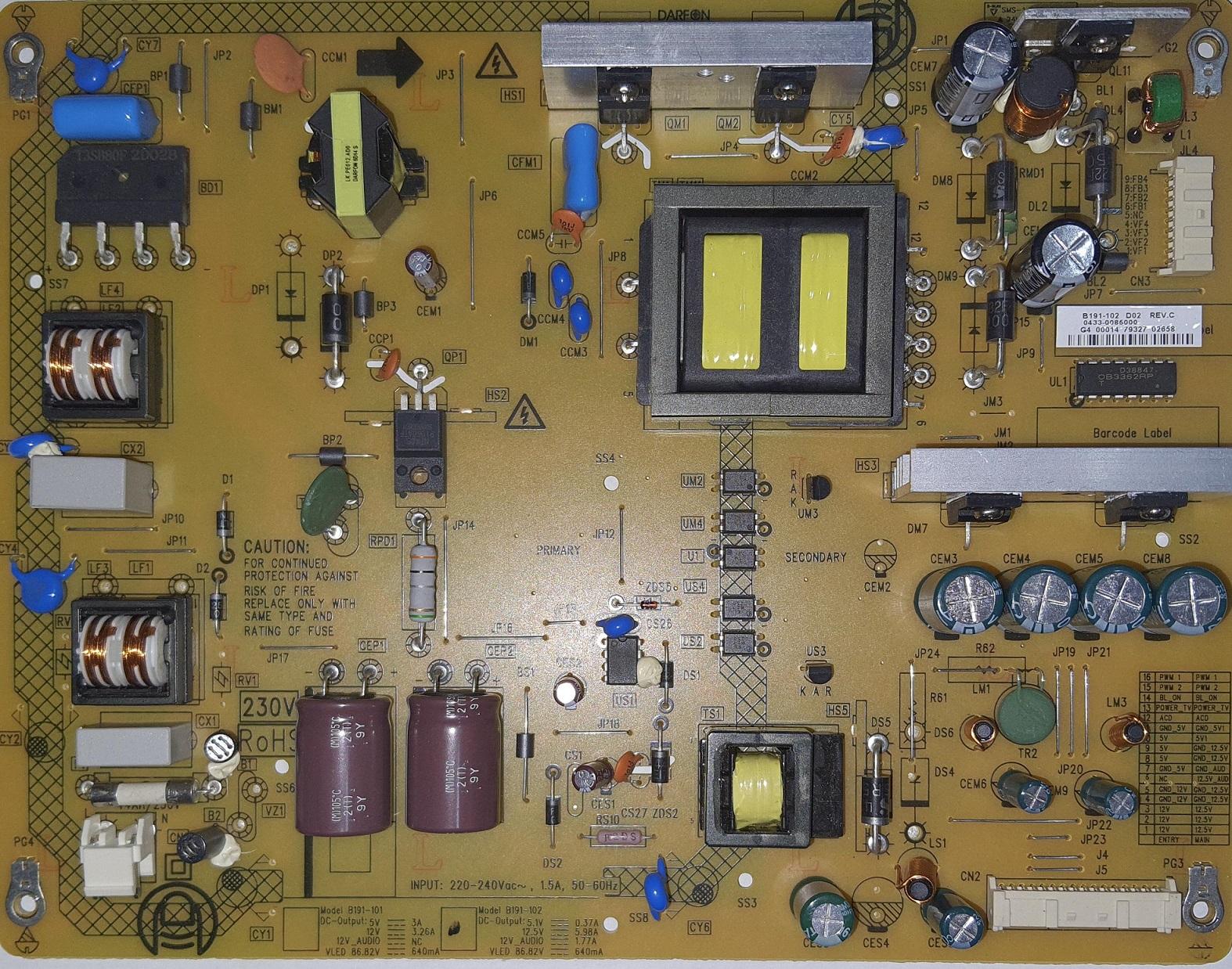Sursa alimentare tv led Toshiba 39L4333